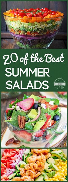 20 BEST Summer Salad Recipes perfect for eating healthy this summer with a variety of yummy, unique salad recipes #salads #recipes #yummy