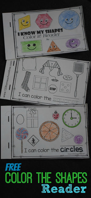 FREE Shapes Emergent Reader is such a fun way for preschool, prek, kindergarten, and first grade. NO PREP!