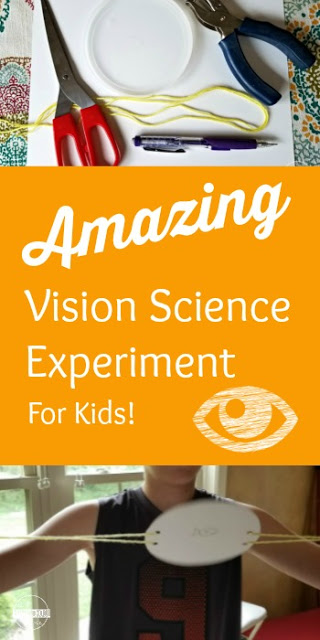 Help kids learn about the human body and their five senses with this easy science experiment exploring vision! Kids of all ages from preschool, pre k, kindergarten, first grade, 2nd grade, 3rd grade, 4th grade, and 5th grade students will have fun trying this amazing eye science experiments. Prepare to be amazed with this simple science experiment for kids.
