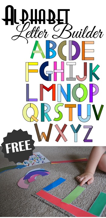 FREE Alphabet Letter Builder - kids will have fun practicing forming letters in a fun, hands on activity perfect for preschool, prek, and kindergarten age kids.