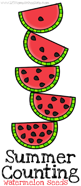 FREE Summer Counting Book - this super cute, black and white watermelon themed count to 10 book is a great way for toddler, preschool, prek, and kindergarten age to practice counting. Perfect for summer learning, back to school, homeschool, math centers, and more.