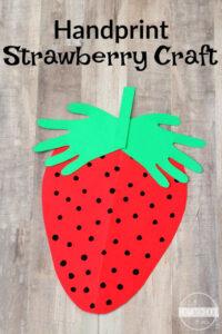 Strawberry Handart summer craft for kids