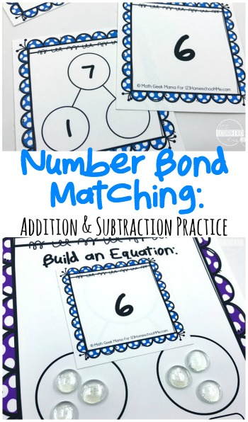 Are your kids tired of painstakinglylearning the facts in math? A better use of that time would be spent engaging kids in a playful, hands on math game to learn the same skills, but keeping kids engaged and having fun while learning! This free printable, number bond games is a great way for kindergarten, first grade, and 2nd grade students to develop their number sense with an addition and subtraction practice activity!