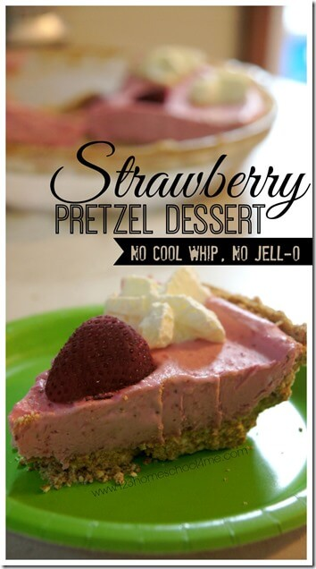 Strawberry Pretzel Dessert Recipe without highly processed cool whip and no artificially flavored and colored jello! So refreshing and yummy, the perfect summer dessert recipes