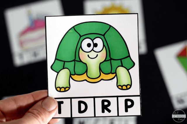 Turtle starts with a tttt T sound