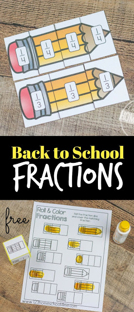 Back to School Fraction Game
