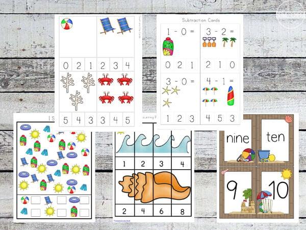 beach-preschool-worksheets