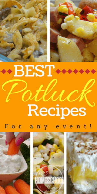 Best Potluck Recipes for any event - over 28 easy to make and transport recipes you'll LOVE! #summer #recipes #postluck
