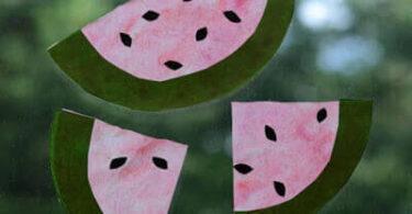 Watermelon Coffee Filter Suncatcher Craft