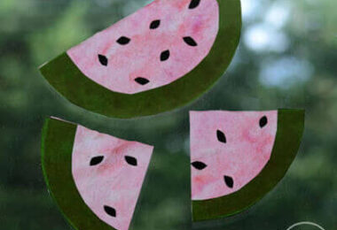 Watermelon Coffee Filter Suncatcher Craft