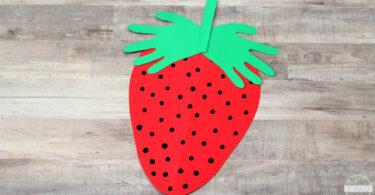 Handprint Strawberry Craft