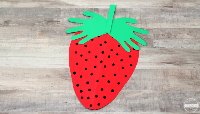 Handprint Strawberry Craft