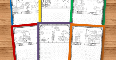 Themed Printable Calendars to Color