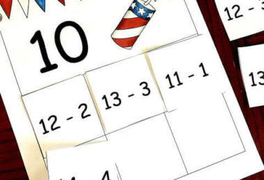 Patriotic Subtraction Mats