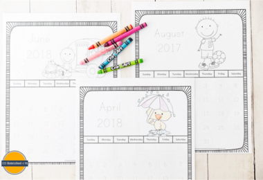 Trace the Number Printable Calendars