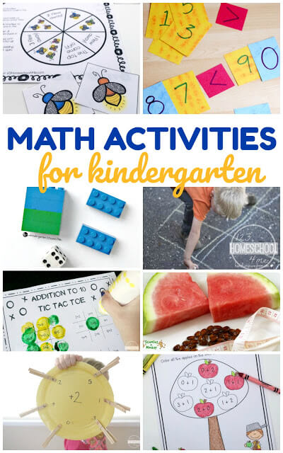 20 Kindergarten Math Activities - so many fun, unique cool math games for young learners! Love these hands on math ideas!