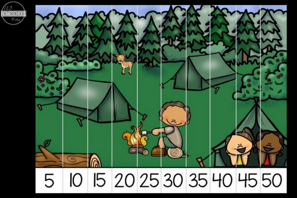 These free summer skip counting puzzles will give your kids practice with counting by 1s, 2s, 5s and 10s!