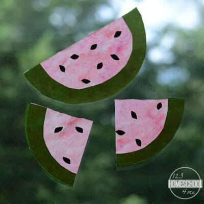 super cute, summer watermelon craft ideas