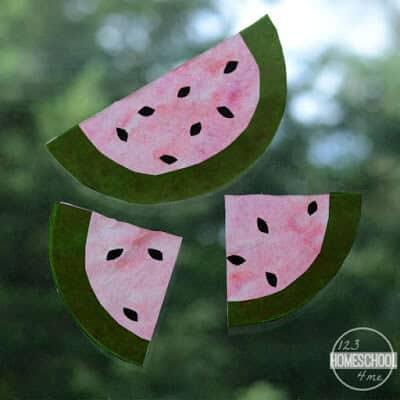 super cute, summer watermelon craft ideas
