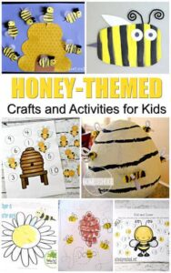 20+ Honeybee activities and crafts for National Honey Bee Day August 17 or national bee month in September or as summer crafts or spring crafts for toddler, preschool, prek, kindergarten, first grade, 2nd grade #craftsforkids #preschool #kindergarten