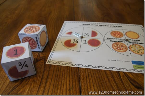 Pizza Fraction Game