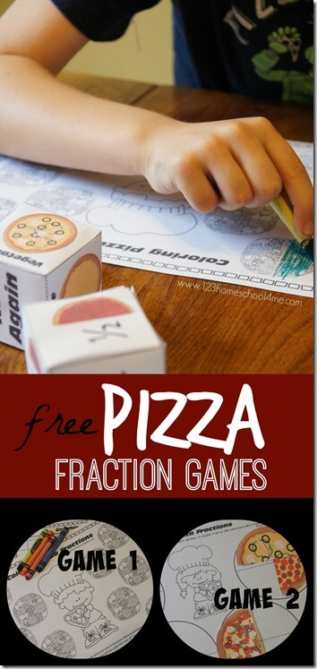 Kids are going to love practicing fractions with these fun, hands on pizza fraction games for Kindergarten, first grade, 2nd grade, and 3rd grade students. Simply download the pdf file with the Pizza Fraction Game Printable. This is such a fun way to learn about whole, half, quarter, and 3/4in math.