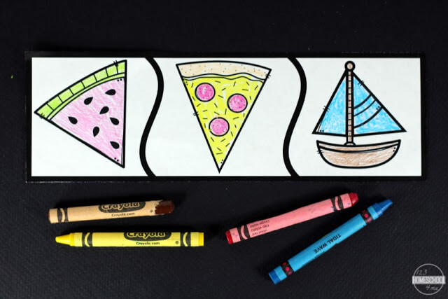 print these shape puzzles in color or black and white to save ink and have extra fun coloring shapes