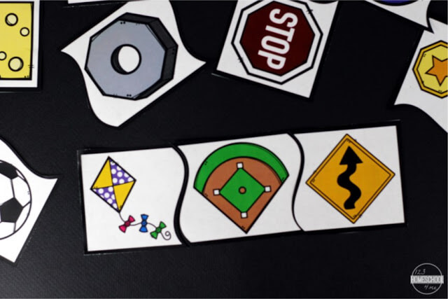shapes included are circle, rhombus, hexagon, octagon, oval, rectangle, square, and triangle