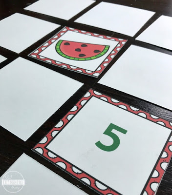 Watermelon counting matching game