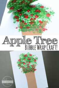 Apple Tree Bubble Wrap Craft