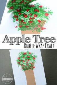 Apple Tree Bubble Wrap Craft