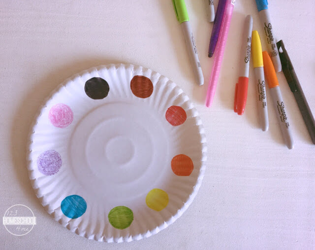 color recognition activity for toddler, preschool, prek, and kindergarten age kids