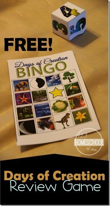 days of creation bingo