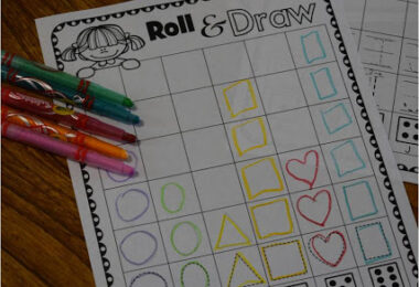 Roll and Learn Kindergarten Worksheets
