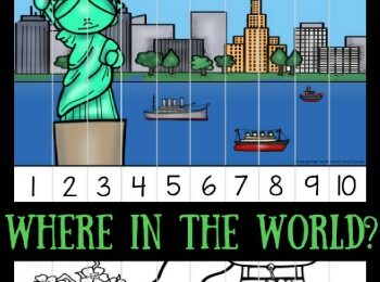 Famous Landmarks Skip Counting Puzzles