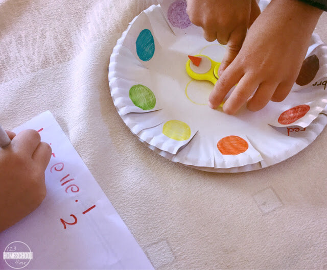 fidget spinner color activities for kids