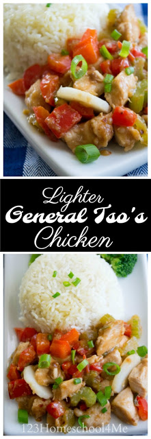 General Tso Chicken is one of our families favorite Chineserecipes that is not only easy to make, but tastes way better than take out Chinese food. Thisgeneral tso chicken recipe has healthy ingredients you can be proud to feed your family. The hoisin sauce, peppers, chestnuts, and mouth-watering chicken are sure to be a new family-favoritechicken recipe.