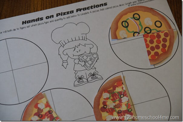 hands on pizza fractions math activities for kids