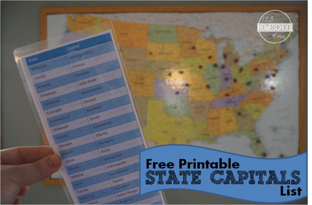learn the state capitals