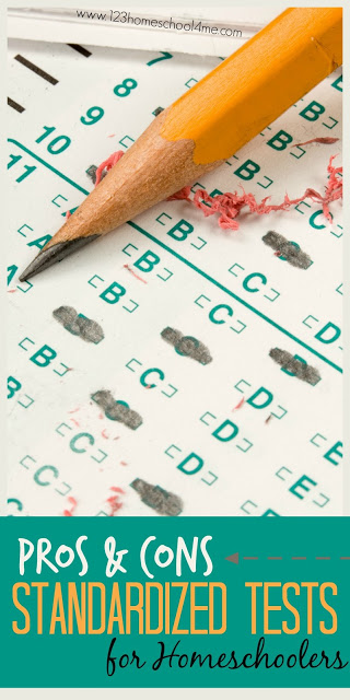 pros and cons of standardized tests for homeschoolers - lots of great things to think about both for and against for homeschool families