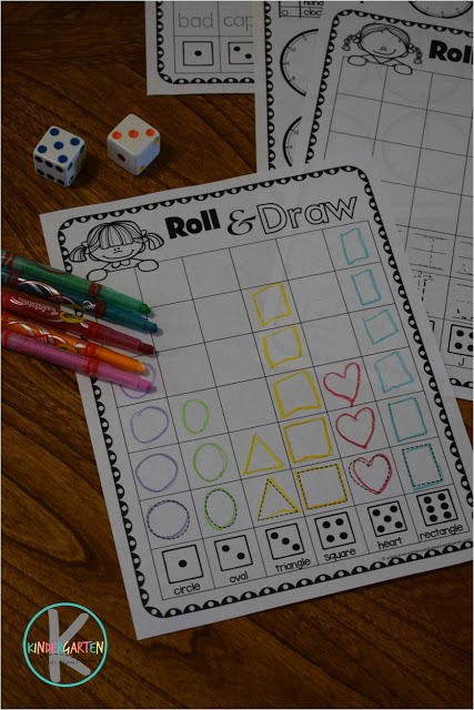 FREERoll & Learn Kindergarten Worksheets! There are so many fun activities in this HUGE pack to practice numbers, letters, telling time, shapes, colors, reading, CVC words, and so much more!! Perfect for Preschool, Prek, Kindergarten, first grade for centers, homeschool, summer learning, extra practice, and more!