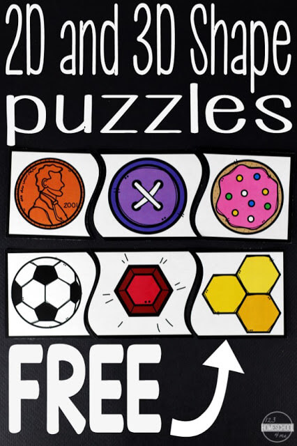 FREE 2D and 3D Shape Puzzles