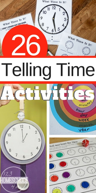 What time is it? It's time to grab a whole bunch of free homeschool printables to practice using a clock with preschool, pre-k, kindergarten, and first grade students. We have found lots of fun, engaging telling time activities games to make learning fun. Plus thesetelling time activities are all free!