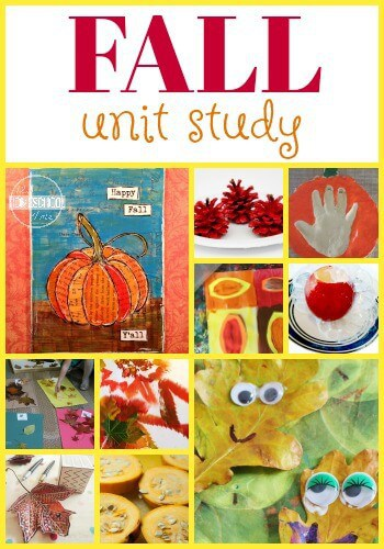 Fall Theme - this fun, free Fall Unit Study helps kids learn math, grammar, creative writing, alphabet letters, science, history, and art with this fun unit for kids of all ages (preschool, kindergarten, first grade, 2nd grade, 3rd grade, 4th grade, 5th grade, homeschool, fall themes) #fall #autunm #kindergarten
