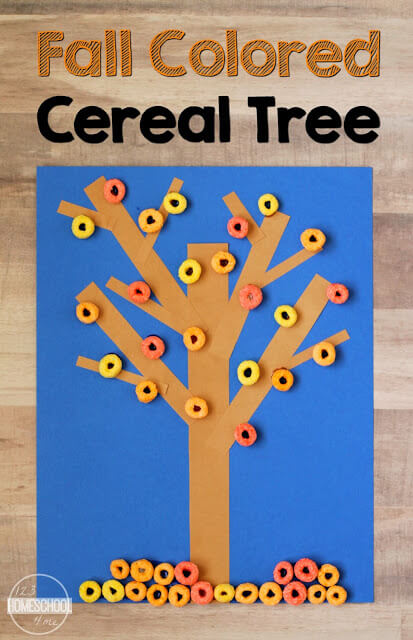 Fall Colored Cereal Tree CraftPin