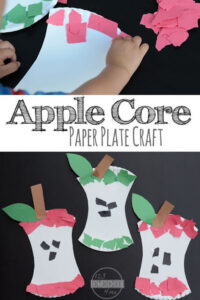Apple Core Paper Plate Craft for Preschoolers