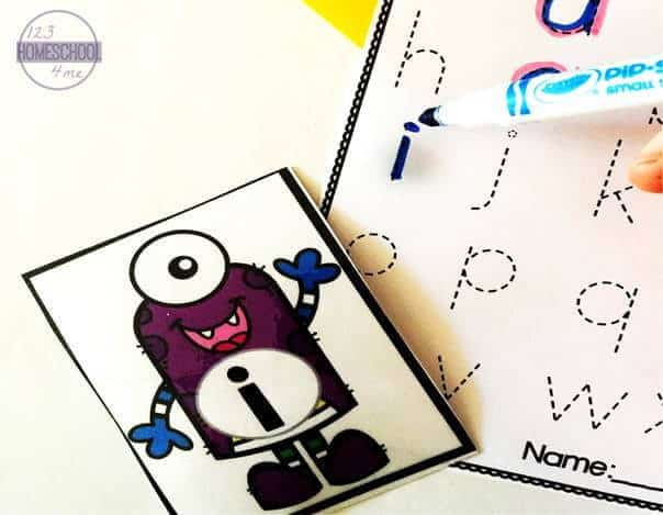 lowercase letters practice with alphabet game