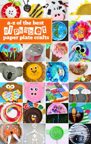 Alphabet Paper Plate Crafts