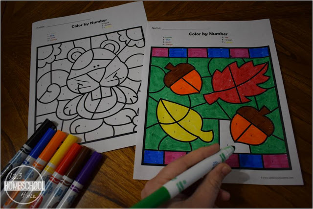 fall math activities