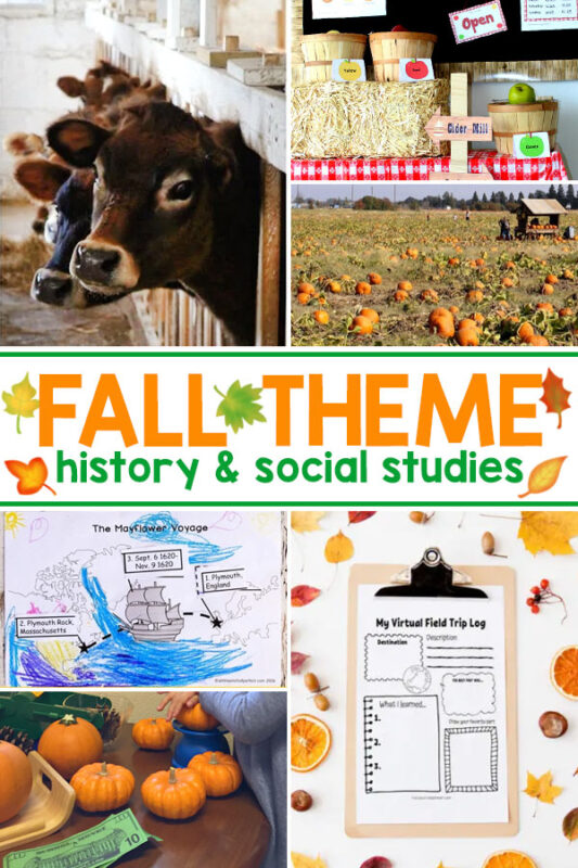 Fall History Ideas and Fall Social Studies Activities Fall is a great time to include history and social studies into your learning plan. Try one of these simple fall themed history activities, or give one of these fun fall themed social studies ideas a go with your kids.